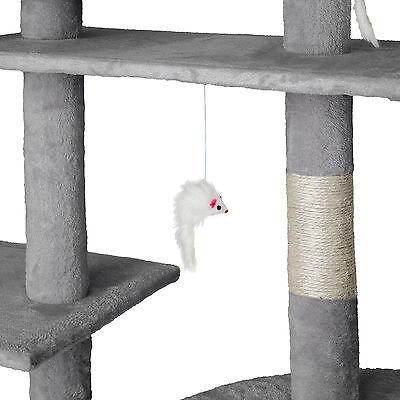 Arbre à chat xxl griffoir grattoir geant avec 2 grottes anthracite gris 5
