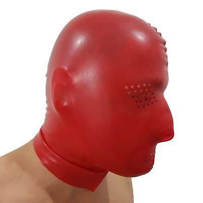 Perforierte Latex Maske aus Rubber in rot, Einheitsgröße 5