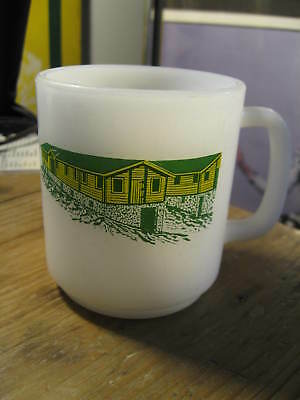 Boy Scouts Camp Ontario 1971 Milk Glass Coffee Cup