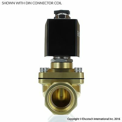 "3/4"" Brass Electric Solenoid Valve 110V 120V Volt AC  Water Air Gas VITON NC B21"