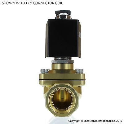 "3/4"" Brass Electric Solenoid Valve 24-VAC 24-Volt AC Water Air Gas VITON NC B21V"