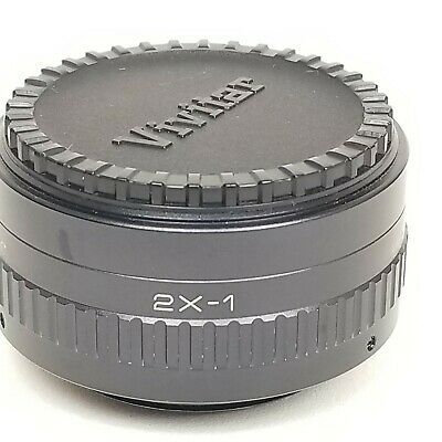 Vivitar Automatic Tele Converter Lens 2×-1  with Lens Covers and Case 2