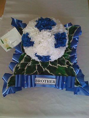 Artificial Silk Funeral Flower Football Wreath Tribute Memorial Any Team 3d ball 2