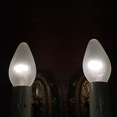 Antique 1919 Matched Wired Art Deco Wall Sconce Fixtures 4