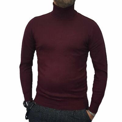 maglia maglioncino maglione a dolcevita da uomo collo alto gola lupetto slim fit 8
