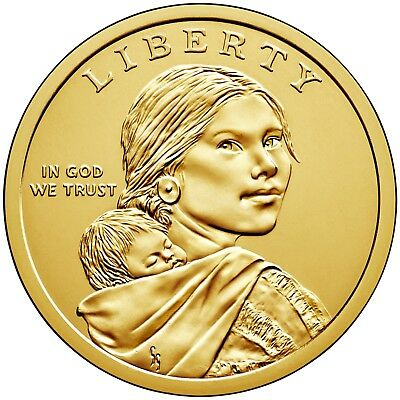 2019 NATIVE AMERICAN (SACAGAWEA) DOLLAR P or D 1-COIN BRILLIANT UNCIRCULATED 2