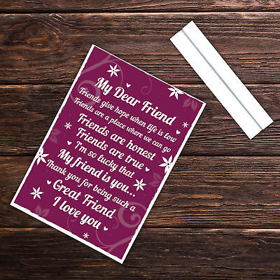 THANK YOU Gifts For Best Friend Standing Plaques Friendship Signs Birthday 6