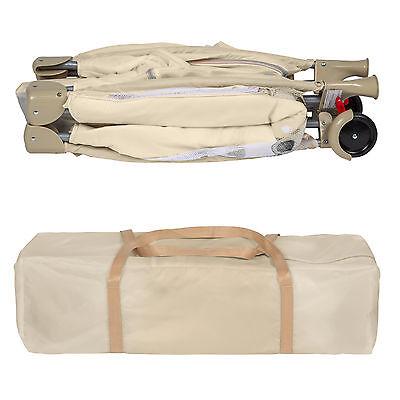 Lettino da viaggio per bambini bambino bimbo portatile box culla beige nuovo 6
