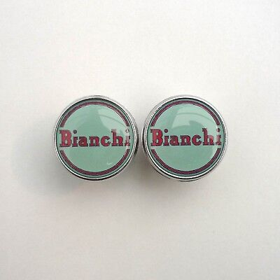 Vintage Style /'Bianchi/' 1950s 60s Caps Chrome Racing Bar Plugs Repro