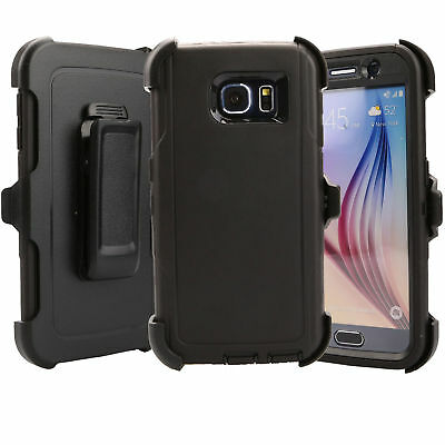 For Samsung Galaxy S6 Case Cover Rugged With (Belt Clip Fits Otterbox Defender) 4