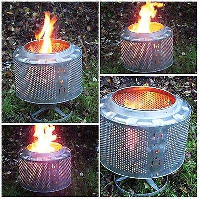 Waschmaschinentrommel als Eventbeleuchtung, Feuerstelle, Outdoorheizung, Grill 3