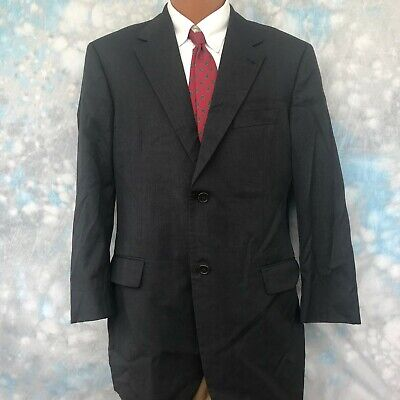 Hugo Boss Sz 42 R Gray Wool Two Button Men's Sports Coat Blazer 2