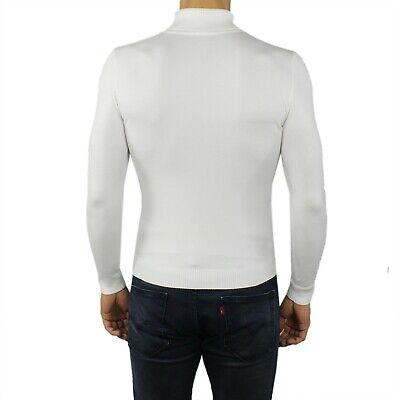 maglia maglioncino maglione a dolcevita da uomo collo alto gola lupetto slim fit 5