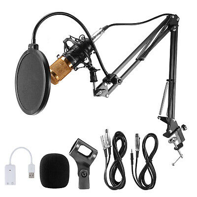 BM800 Condenser Microphone Kit Studio Pro Audio Recording Arm Stand Shock Mount 10