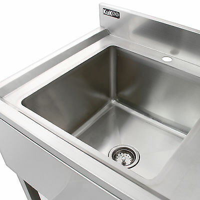 Science Lab Laboratory Sink Stainless Steel Single Bowl 1.0 Right Hand Drainer 6