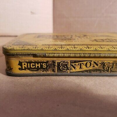 Vintage Old Advertising Tin Rich's Crystallized Canton Ginger EC Rich NY. 3
