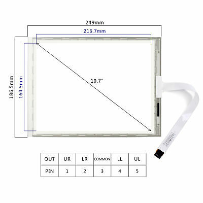 10.4inch 5-Wire Resistive Touch Panel Ships from Houston TX