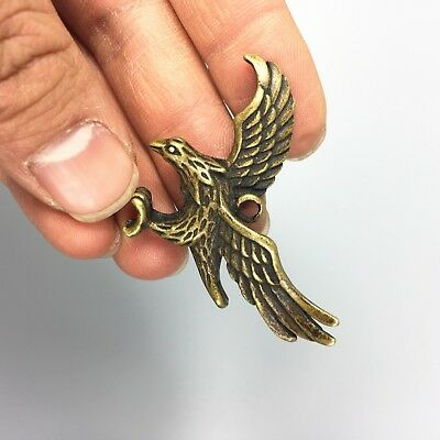 Antique Collectible Brass Handwork Flying Eagle Exquisite Pendant /Statue 7
