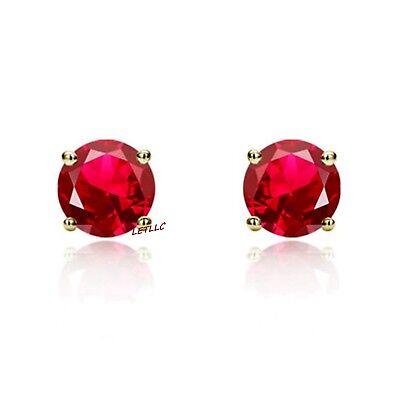 4ct CZ Stud Earrings Brilliant Cut Cubic Zirconia men women 10mm 14K gold plated 4