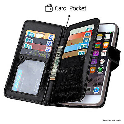 For iPhone 11 Pro XS MAX XR 8 7 Plus 6s Wallet Magnetic Flip Leather Case Cover 7