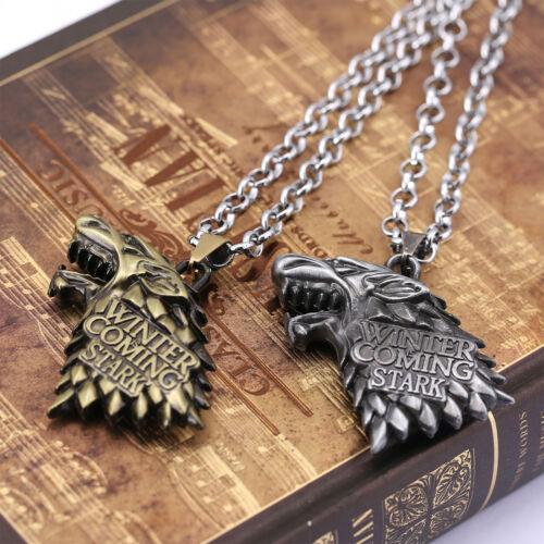 Game of Thrones House Stark Targaryen Dragon Chain Pendant Necklace Jewelry Gift 6