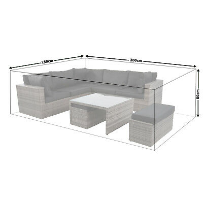 Häufig XXL SCHUTZHÜLLE SITZGRUPPE 300x250cm wasserdicht Gartenmöbel PE KB24