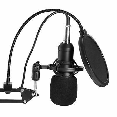 BM800 Condenser Microphone Kit Studio Suspension Boom Scissor Arm Stand Sound AU 8