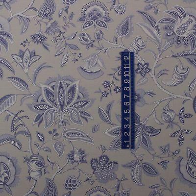 "P KAUFMANN FIELD OF DREAMS BURNT ORANGE JACOBEAN FLORAL FABRIC BY YARD 54/""W"