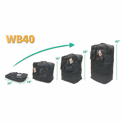 """40"""" Expandable Spinner Suitcase Luggage Wheeled Duffel Rolling Bag USA SELLER 3"""