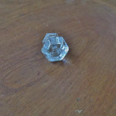 Antique Victorian Clear Glass Drawer Knob or Pull 6
