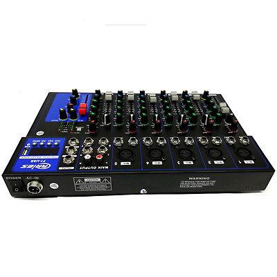 Mixer Audio 7Canali Dj Karaoke Serate Piano Bar Professionale Usb Con Echo-Delay 3