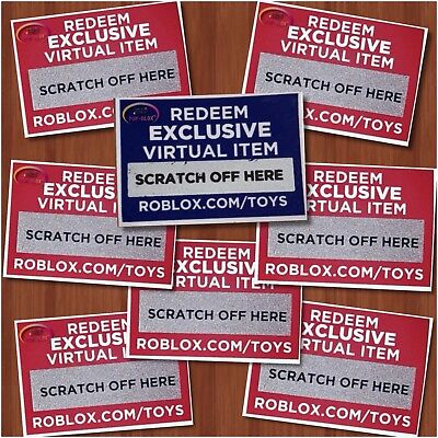 Roblox Exclusive Virtual Toys CODES ONLY Series 1 2 3 4 Figures-USPS SHIPPING 6