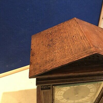 bracket clock Oak Cased W & H Superb 8
