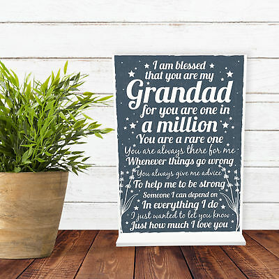 Christmas Birthday Gifts For Grandad Grandparents Standing Plaque Thank You Gift 3