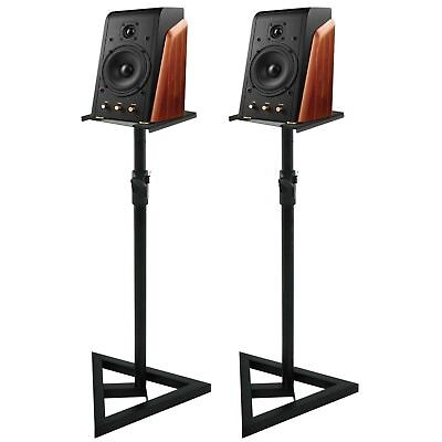 Studio Monitor Speaker Stand Height Adjustable Concert Band Heavy Duty 1 Pair 2