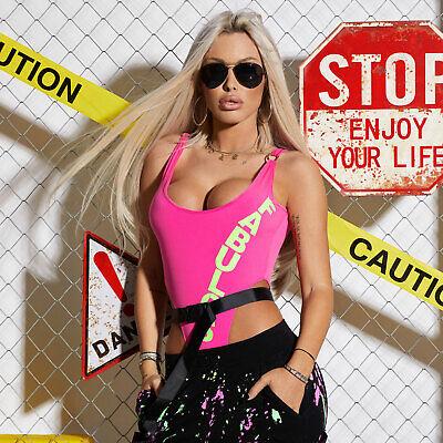 By Alina Mexton Damen Body Bodie Bodysuit hoher Beinausschnitt T-Shirt XS-M