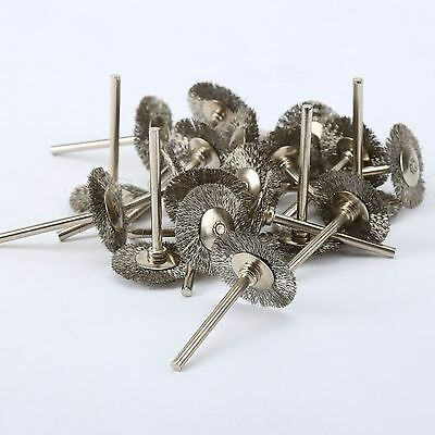 20Pcs 25mm Stainless Steel Wire Wheel Brush Cup For Dremel Grinder Rotary Tools 7