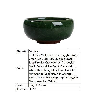 Ice Crack Glaze Flower Ceramics Succulent Plant Mini Pot Garden Flowerpot CHIC 2