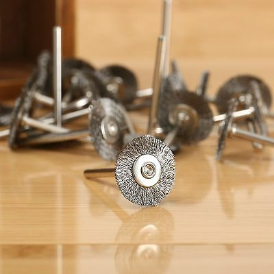 20Pcs Rotary Tools steel Wire Wheels Brushes For Die Grinder Dremael Accessories 4