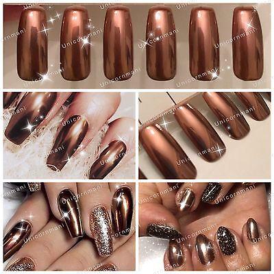 1 Of 6free Shipping Copper Nails Powder Bronze Mirror Chrome Effect Pigment Nail Art Uk Er U