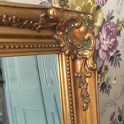 Vintage Style Large 3FT FRENCH Ornate MIRROR Ivory Gold Black White or Silver 4