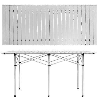 Table de camping de jardin pliable pliante en aluminium portable XXL 140x70x70cm 3