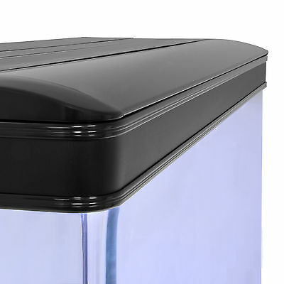 Fish Tank Cabinet Aquarium LED Light Tropical Marine Large Black 4ft 300 Litre