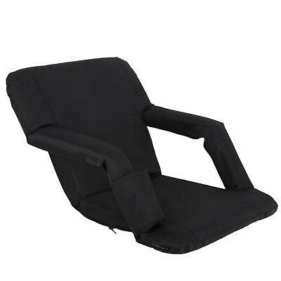 2 PCS Black Stadium Seat Bleacher Chair Cushion - 5 Reclining Positions 8