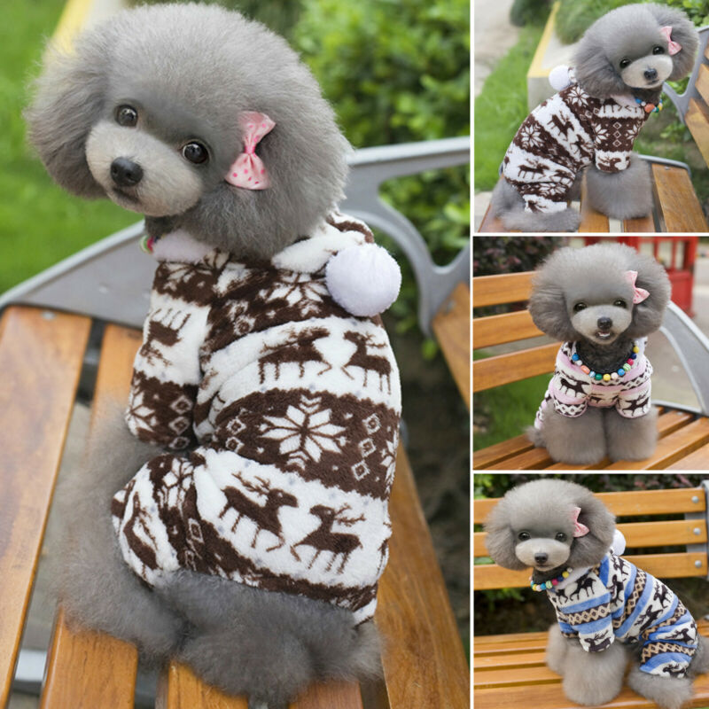 Pet Dog Fleece Jumper Knitwear Winter Coat Puppy Chihuahua Warm Sweater Clothes 2