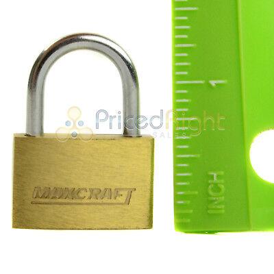 "2 pack Lot 1"" Inch Key Padlock Mini Tiny Small Brass Lock Luggage Toolbox Box 6"
