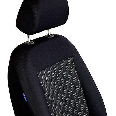 Schwarz Effekt 3D Sitzbezüge für FIAT FIORINO Autositzbezug VORNE