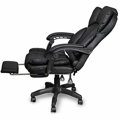 Schreibtischstuhl Bürostuhl Gamingstuhl Racing Chair Chefsessel mit Fußstütze 6