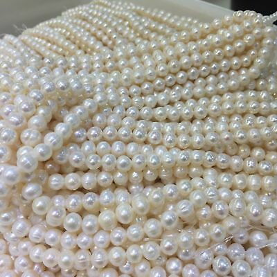 "Wholesale Natural Freshwater Pearl Gems Loose Beads Charm Findings  Strand 14"" 6"