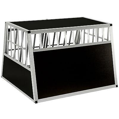 XXL Cage box caisse trapézoïdal de transport voyage pour chien mobile aluminium 6